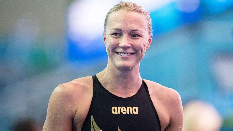 Sarah Sjöström var snabbast i försöken på 50 meter fjäril.