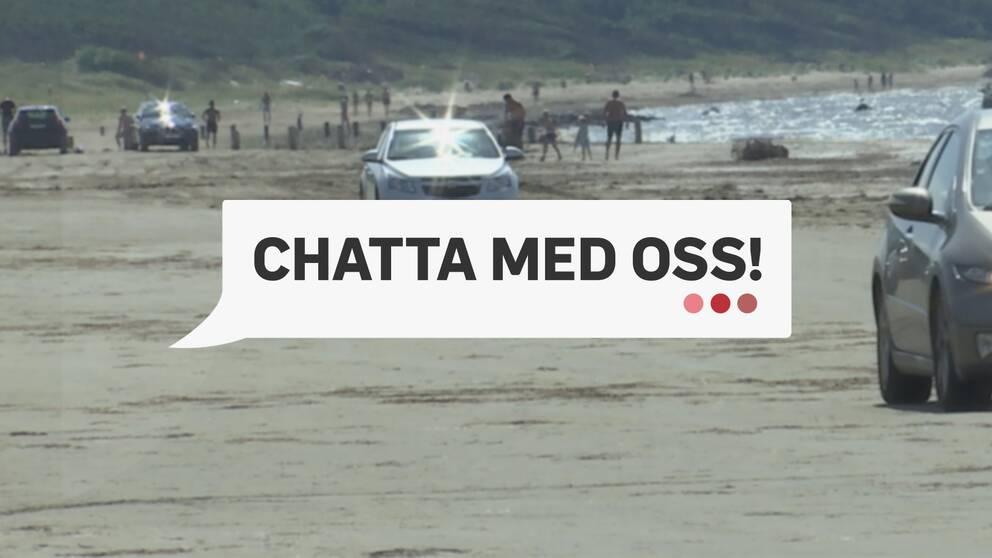 Bilar på strand
