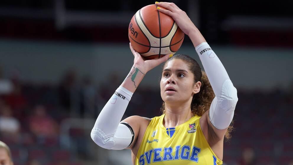 Amanda Zahui gjorde fem poäng för New York Liberty.