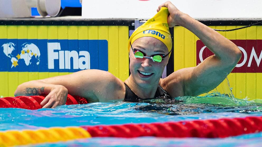 Sarah Sjöström gick vidare till final på 50 meter frisim.