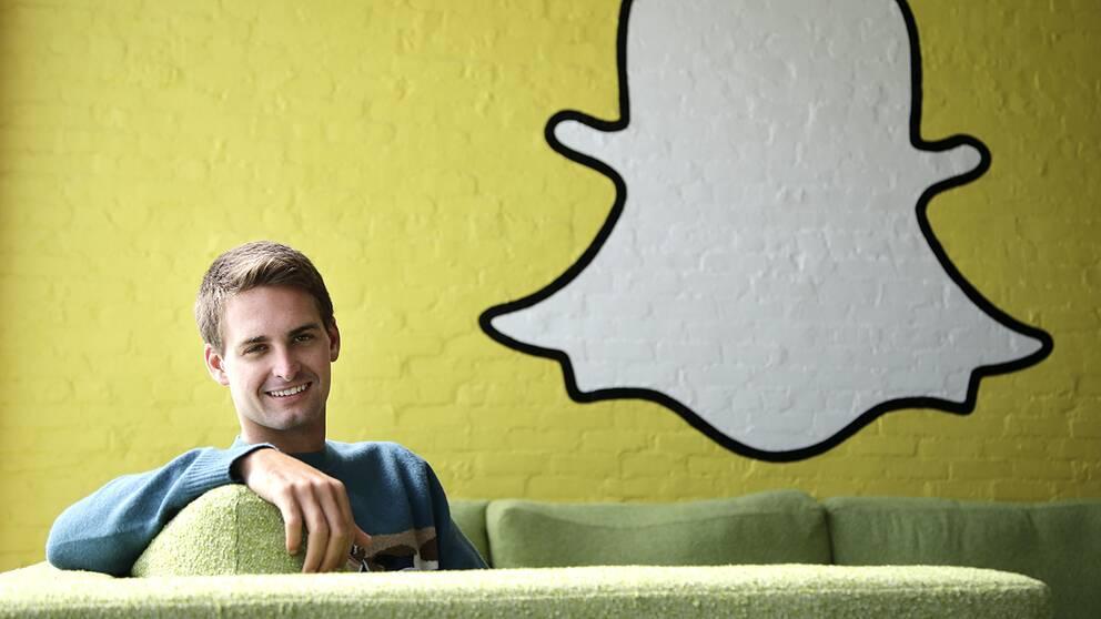 Snapchats vd Evan Spiegel.