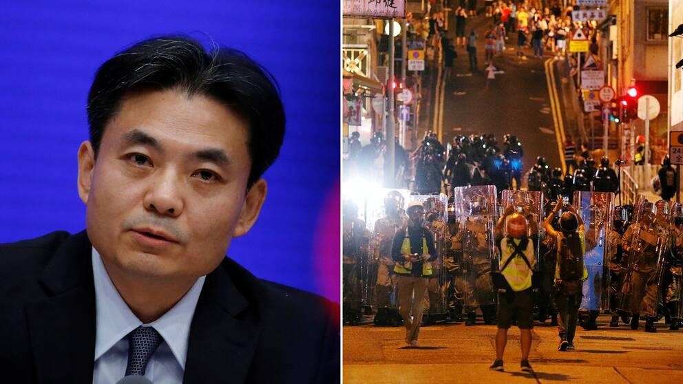 Yang Guang, talesperson för HKMAO.