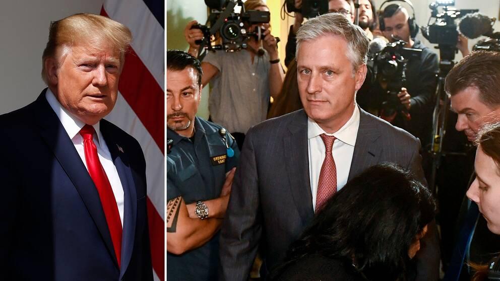President Donald Trump har skickat sitt särskilda sändebud för gisslansituationer till rättegången i Stockholm, för att visa den amerikanska regeringens stöd.
