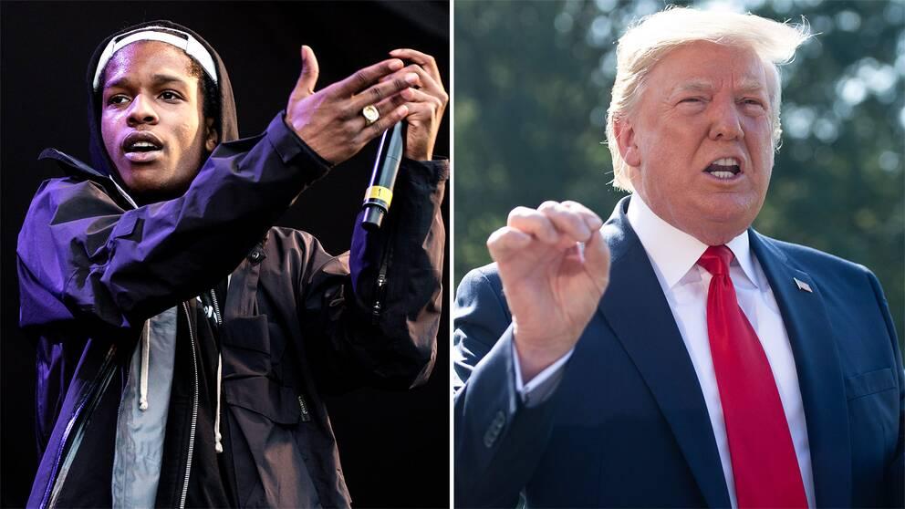 USA:s president Donald Trump har kritiserat hur Sverige hanterar ASAP Rockys ärende. Arkivbild.