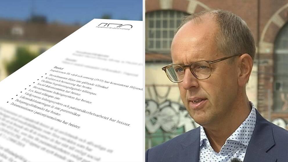 Inspektionen 2019 hittades en lång rad brister. Men Ivo hade uppmärksammat brister redan 2015, säger Lars Rahm, enhetschef på Ivo.