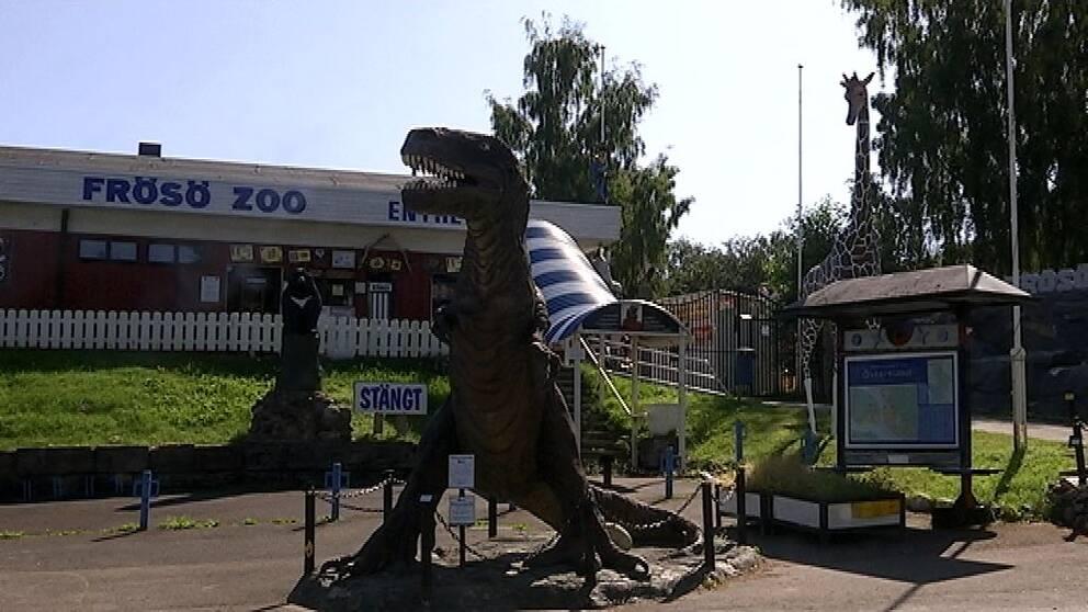 bild utifrån den stängda djurparken