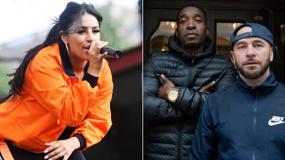 Linda Pira och hiphopduon Ison och Fille är några av artisterna som nu protesterar mot vapenvåldet.