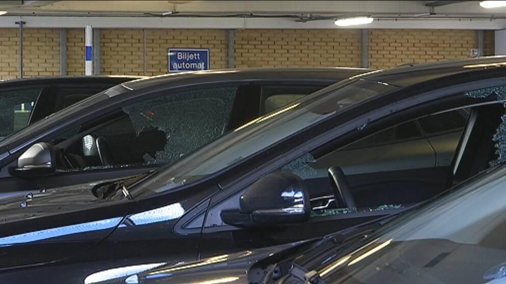 bil, inbrott, parkeringshus