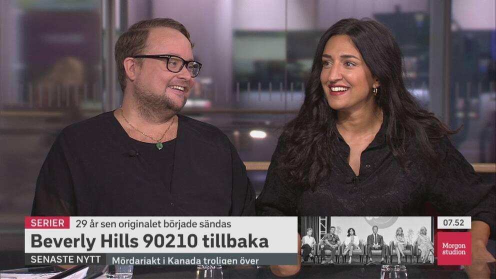 Linus Fremin och Parisa Amiri diskuterar nya Beverly Hills i Morgonstudion.