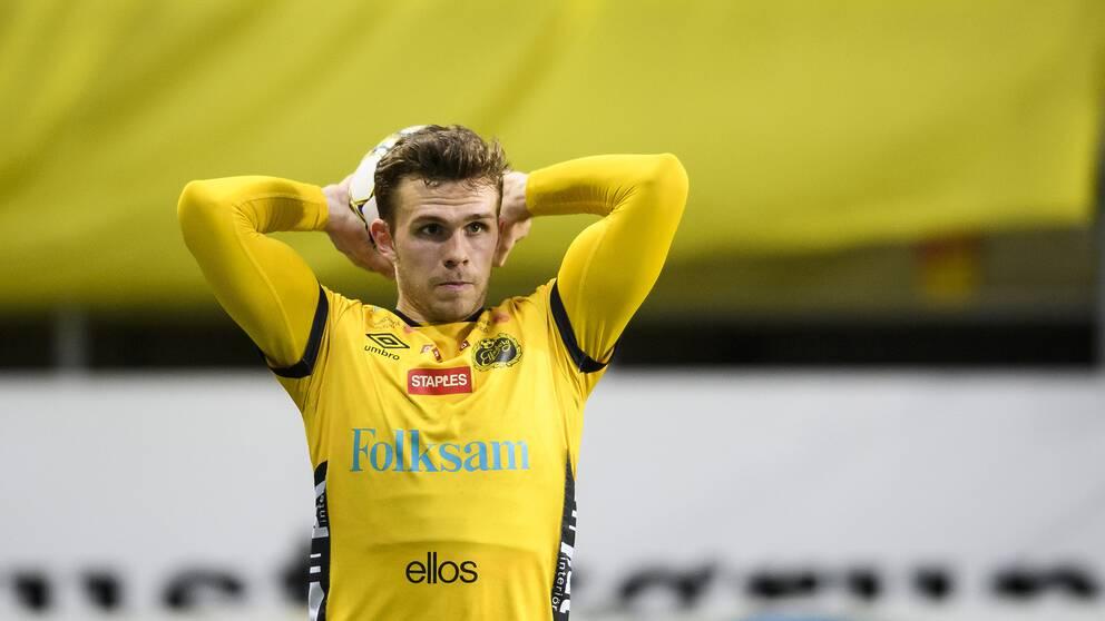 Jesper Manns under en allsvensk match med Elfsborg 2017.