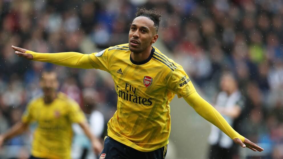 Pierre-Emerick Aubameyang avgjorde för Arsenal.