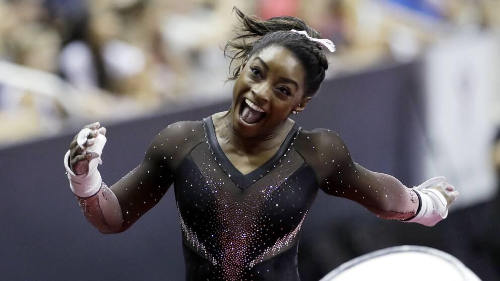 Simone Biles tog ännu ett guld i natt.