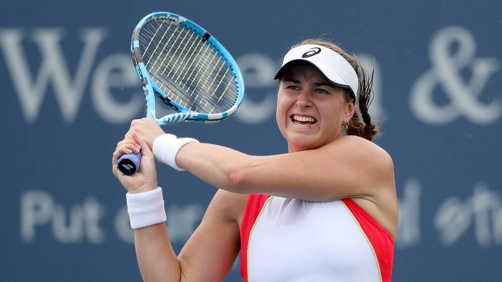 Rebecca Peterson är vidare till den andra omgången i Cincinnatis WTA-turnering.
