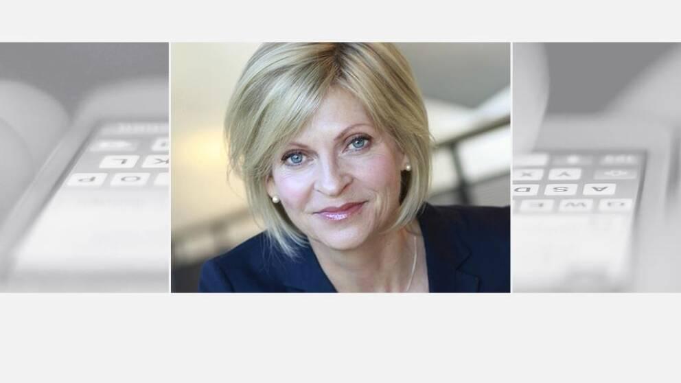 Porträttbild på Irene Krohn, presschef Telia