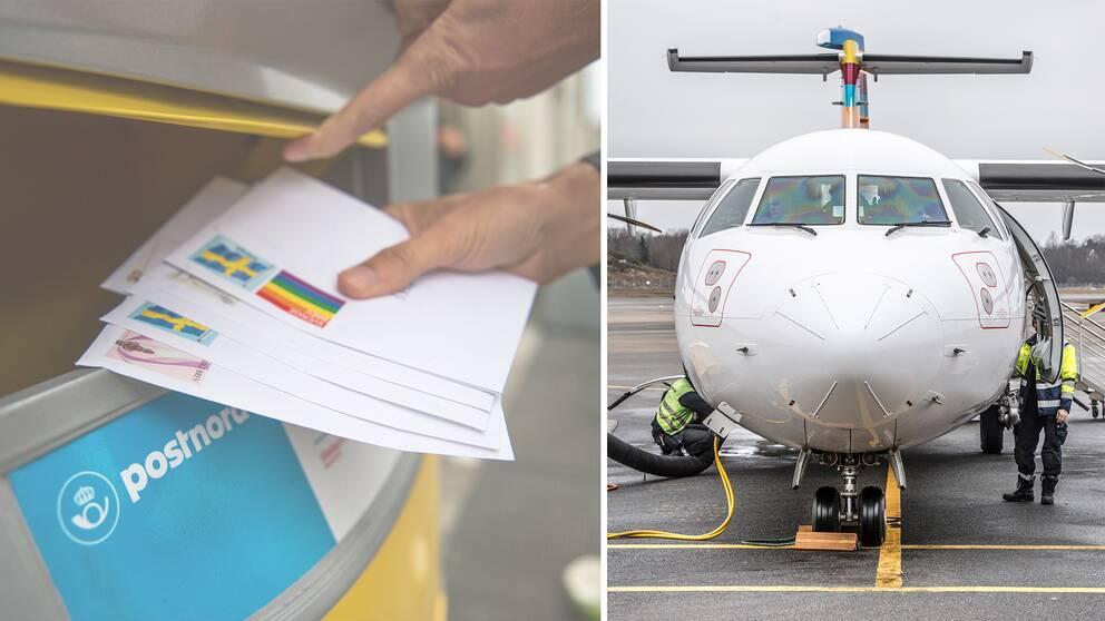 Om posten delas ut varannan dag måste Postnord ha fler flyglinjer igång.