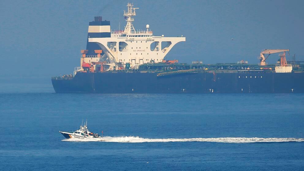 USA uppges vilja beslagta den iranska oljetankern Grace 1, som sedan i juli varit beslagtagen av Gibraltar.