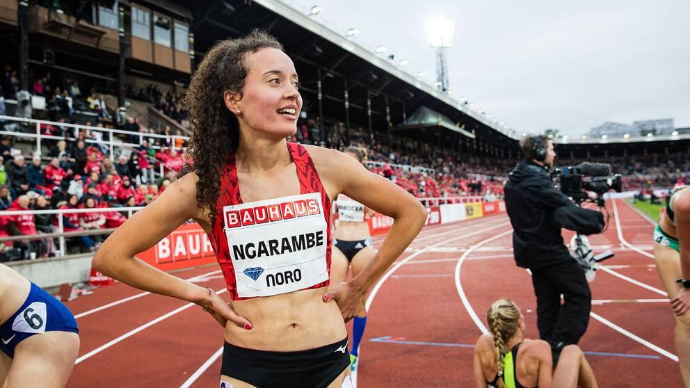 Yolanda Ngarambe klarade VM-kvalgränsen på 1500 meter med klar marginal.