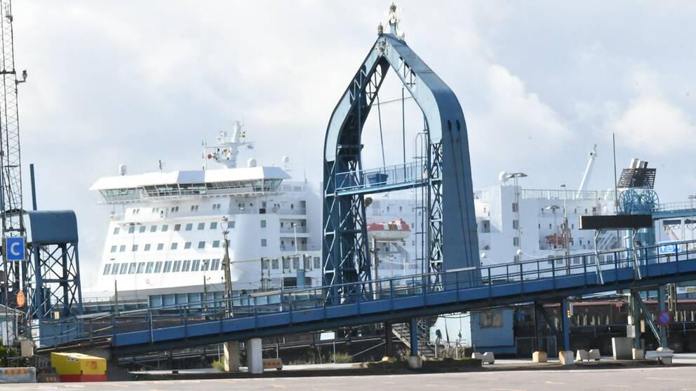 Färjan Peter Pan i Trelleborgs hamn