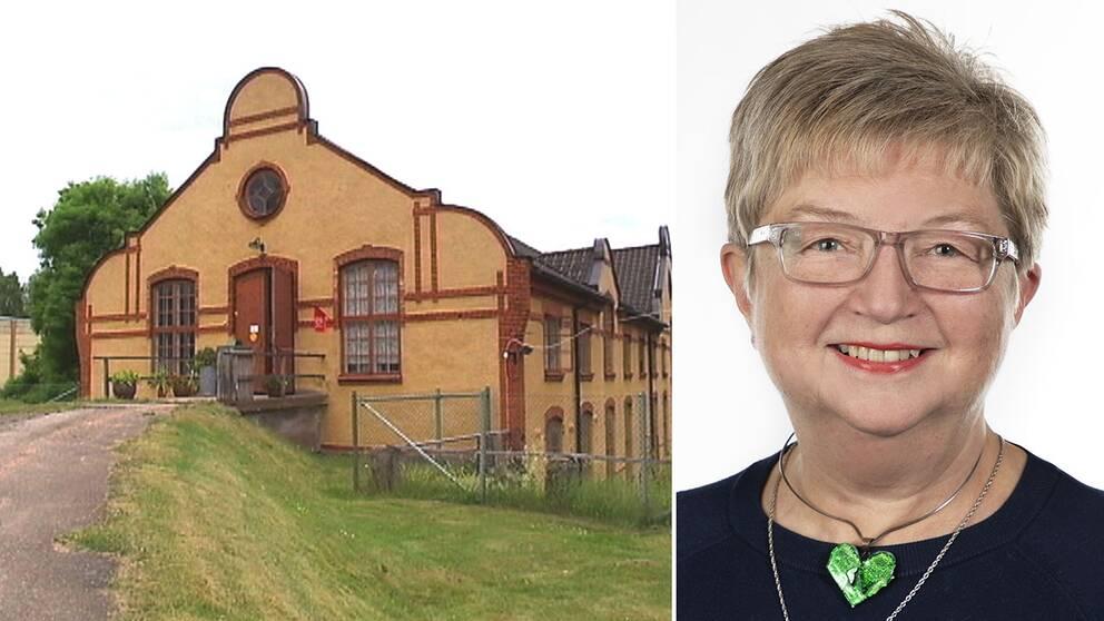 Britt-Louise Berndtsson, ordförande för studieförbundet Vuxenskolan Kronoberg hoppas att handpappersbruket i Lessebo ska blomstra på nytt som besöksmål i glasriket.