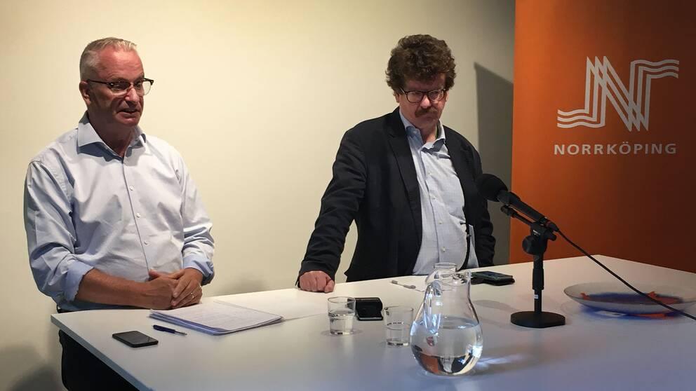 Martin Andreae, kommundirektör, och Lars Stjernkvist (S), kommunstyrelsens ordförande.