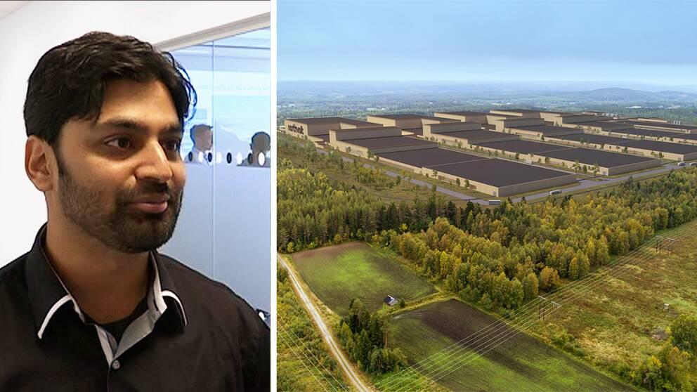Waseem Ahmed från Malmö ställer sig positiv till att flytta till den jättefabrik som byggs i Skellefteå ifall han får möjlighet till ett bra och tillfredsställande jobb.