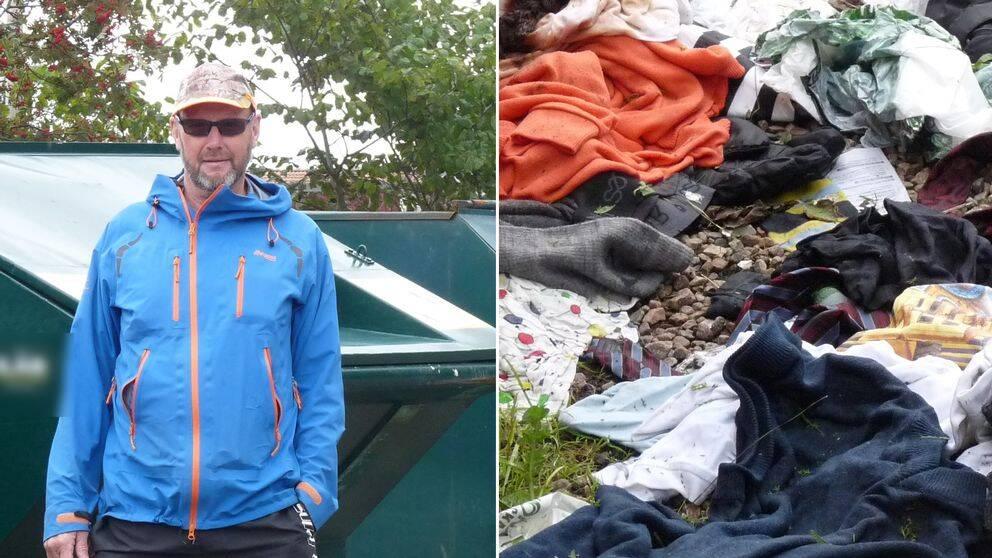 Lennart Edenpalm bor i närheten av en återvinningsstation i Varberg. Enligt honom är den ofta nedskräpad.