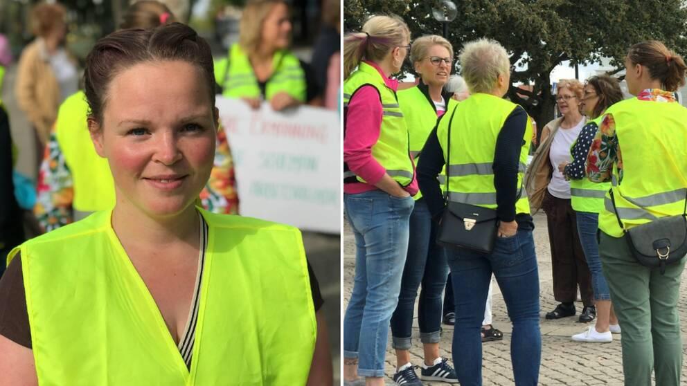Ida Eliasson, undersköterska, och deltagare Undersköterskeupproret i gula västar