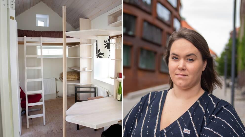Studentrum och SFS:s ordförande Matilda Strömberg.