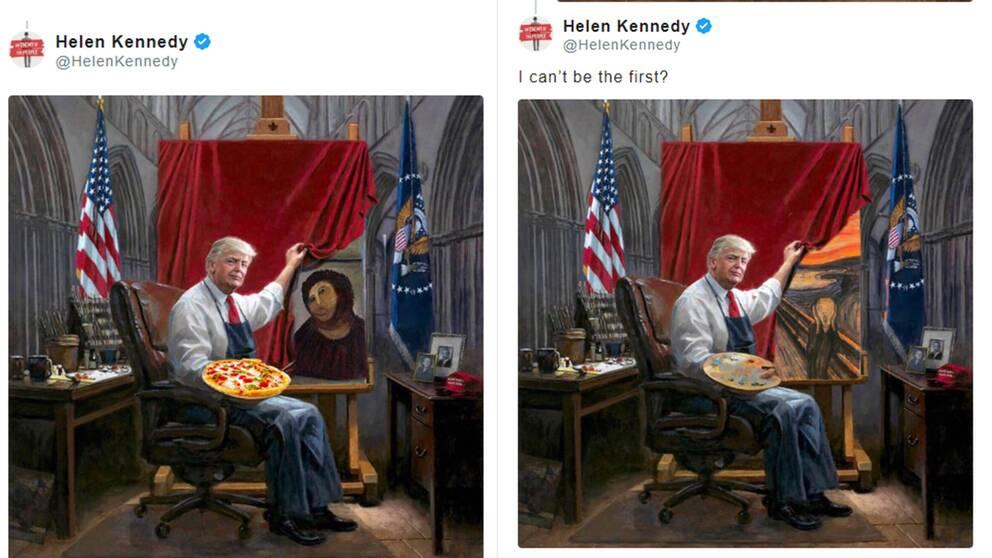 Internet-meme om Trumpmålningen.