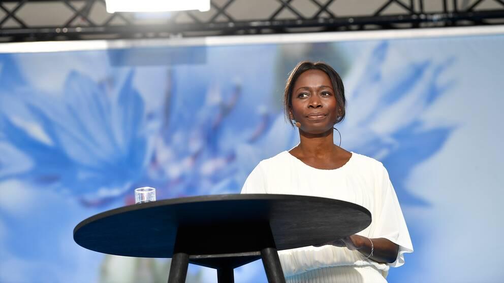 Liberalernas ledare Nyamko Sabuni i Almedalen.