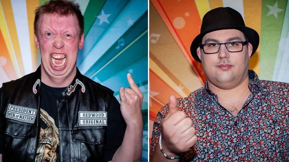 Fredrik Johansson från Halmstad och Micki Johansson från Falkenberg var med Funkisfestivalen 2019.