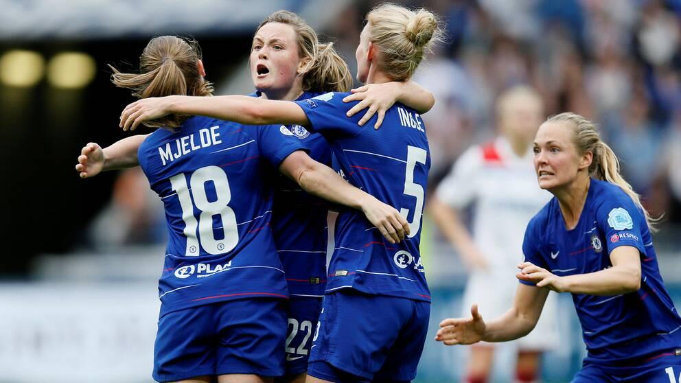 Magdalena Eriksson (höger) och hennes Chelsea kommer att kunna ses av svenska tittare framöver.