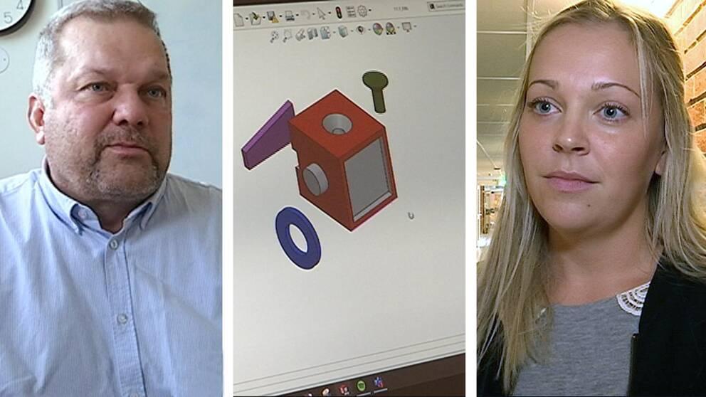 Per-Olov Olsson, sektionschef ÅF Industri är en av de som deltagit i arbetet med utbildningen. Alice Nordlund från Bollnäs är en av deltagarna.