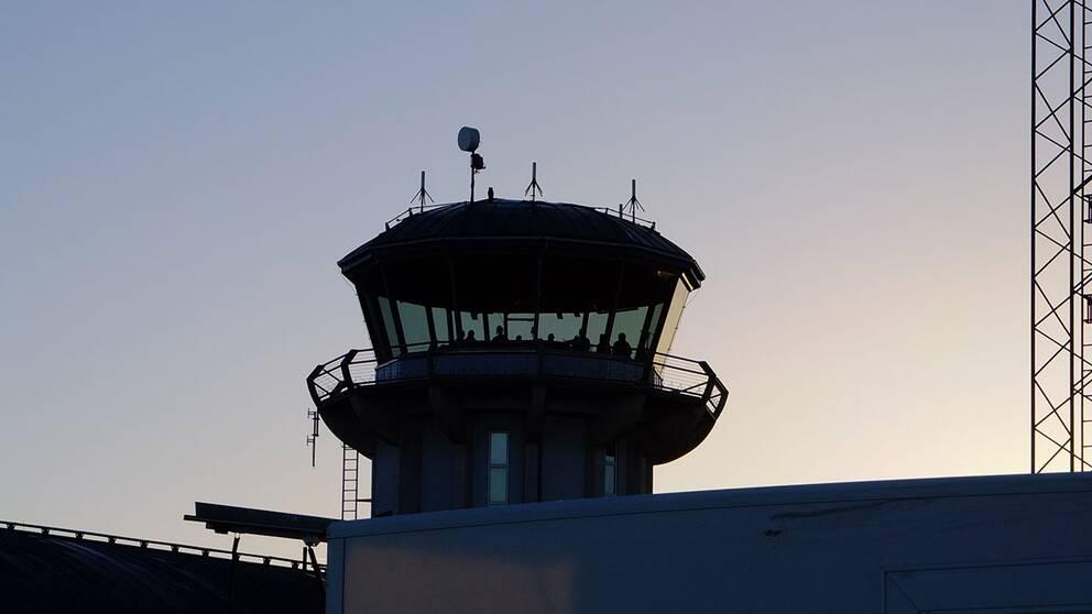 Flygledartornet på Norrköpings flygplats.