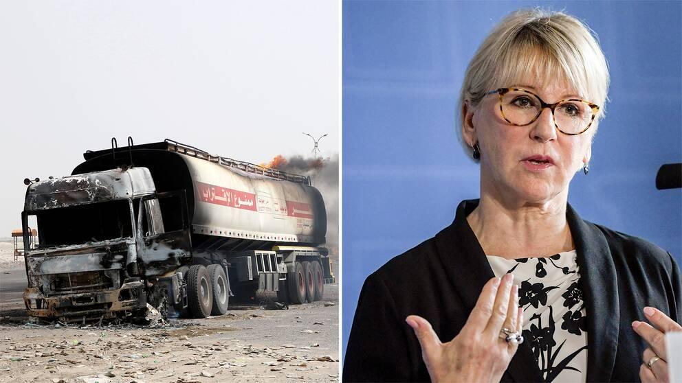 Utrikesminister Margot Wallström (S) ska besöka parterna i kriget i Jemen. På bilden syns utrikesminister Margot Wallström.