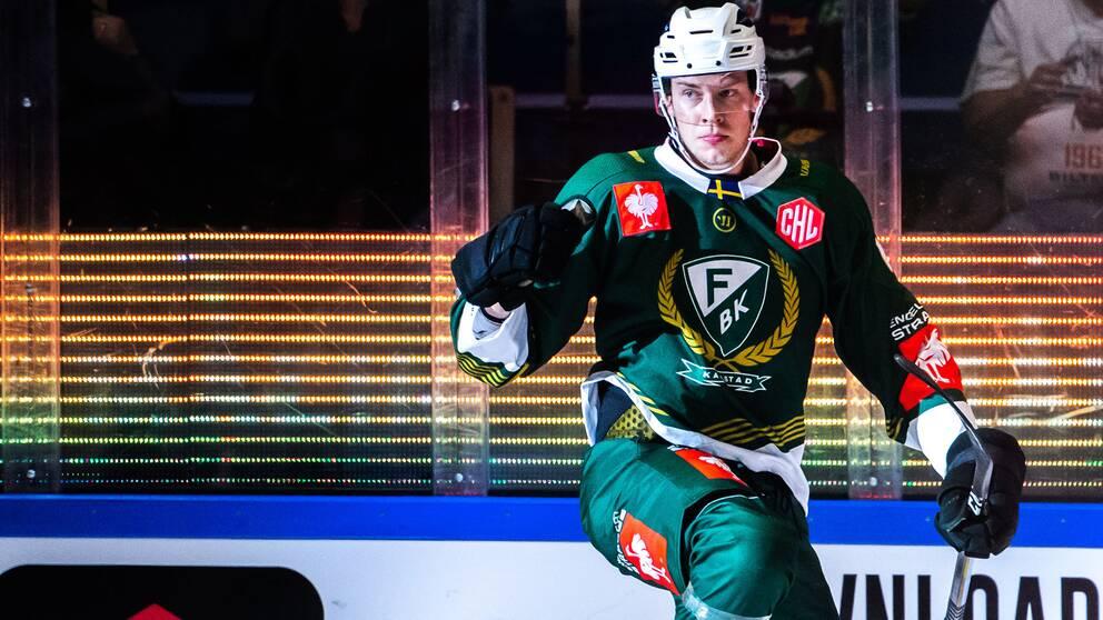 Victor Ejdsell gjorde Färjestads första mål.