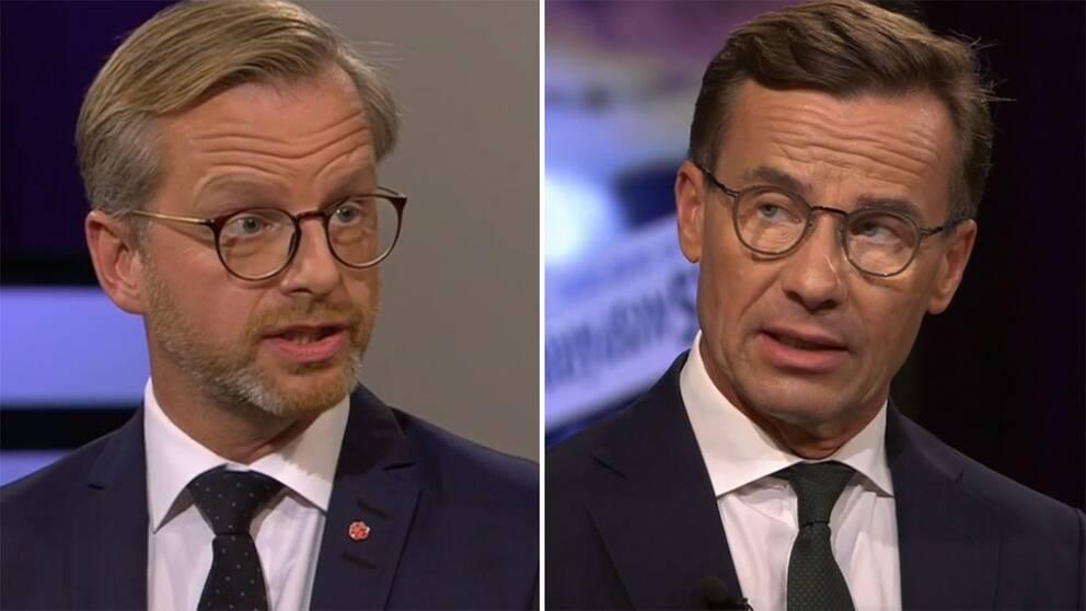 Mikael Damberg och Ulf Kristersson.