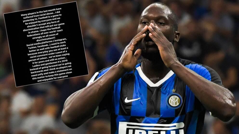 Romelu Lukaku har blivit utsatt för rasism.