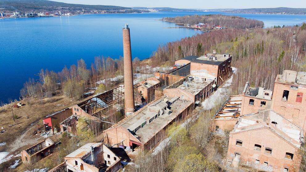 Fabriksruinen i Nyhamn söder om Sundsvall.