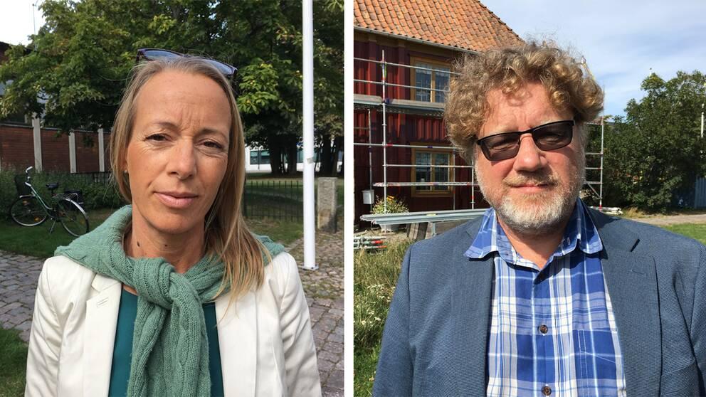 Camilla Brunsberg (M), som är oppositionsråd i Karlskrona, och kommunalrådet Magnus Larsson (C).