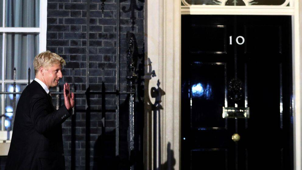 Jo Johnson, Boris Johnsons bror, utanför 10 Downing Street.