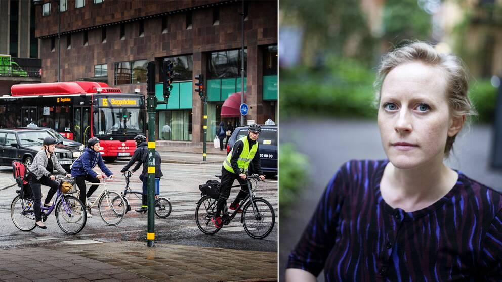 Cyklister och forskare Emma Engström