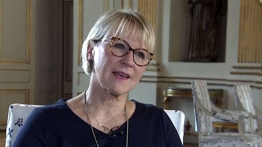 Avgående utrikesministern Margot Wallström i intervju med SVT:s Mats Knutson