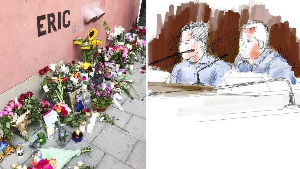 De åtalade poliserna under rättegången gällande dödsskjutningen av Eric Torell, i Stockholms tingsrätt