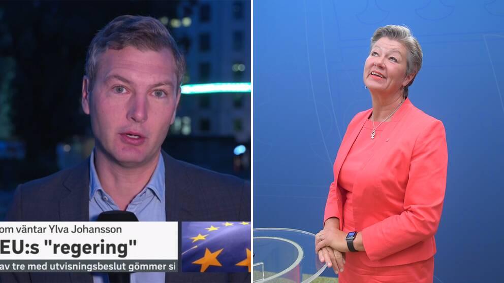 Enligt SVT:s Europakorrespondent Christoffer Wendick pekar läckor på att EU inte kommer ha någon migrationskommisionär i fortsättningen. På bilden till vänster syns Ylva Johanson, Sveriges nya EU-kommissionär.
