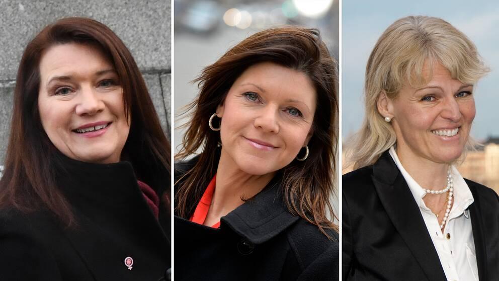 Ann Linde (S), Eva Nordmark (S) och Anna Hallberg presenterades som nya ministrar under riksdagsårets formella öppnande på tisdagen.