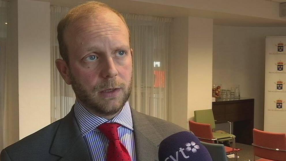 Åklagare Henrik Olin vid riksenheten för säkerhetsmål