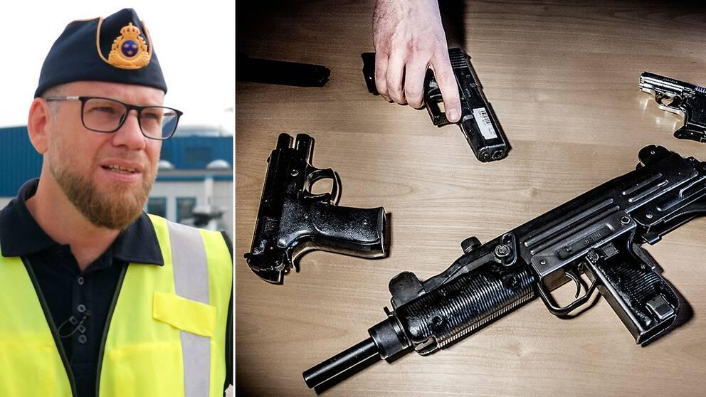 Martin Petersson, Tullverket, vill se samma minimistraff för vapensmuggling som för vapenbrott