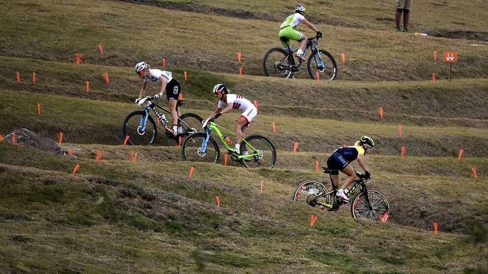 Mountainbikecyklister