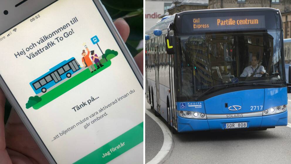 """Nya funktioner i Västtrafiks reseapp """"ToGo"""" kommer att göra det svårare att tjuvåka i kollektivtrafiken."""
